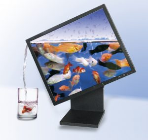 advert. for LCD monitor